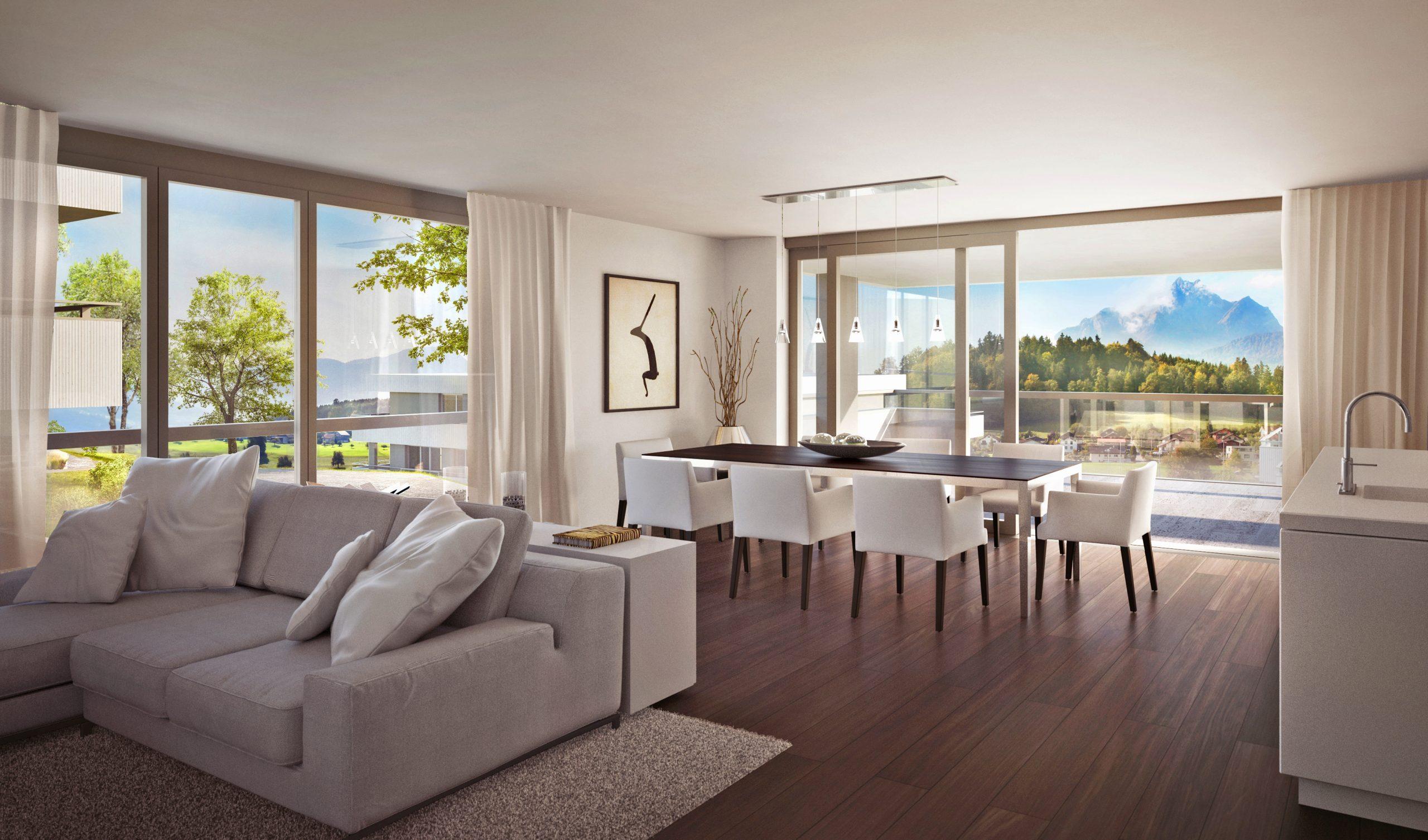Exklusive 4½ Zimmer Wohnung mit Pilatusblick