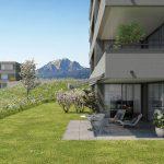 BINSGARDEN – Hochwertige 2½-Zimmer-Wohnung mit herrlicher Seesicht