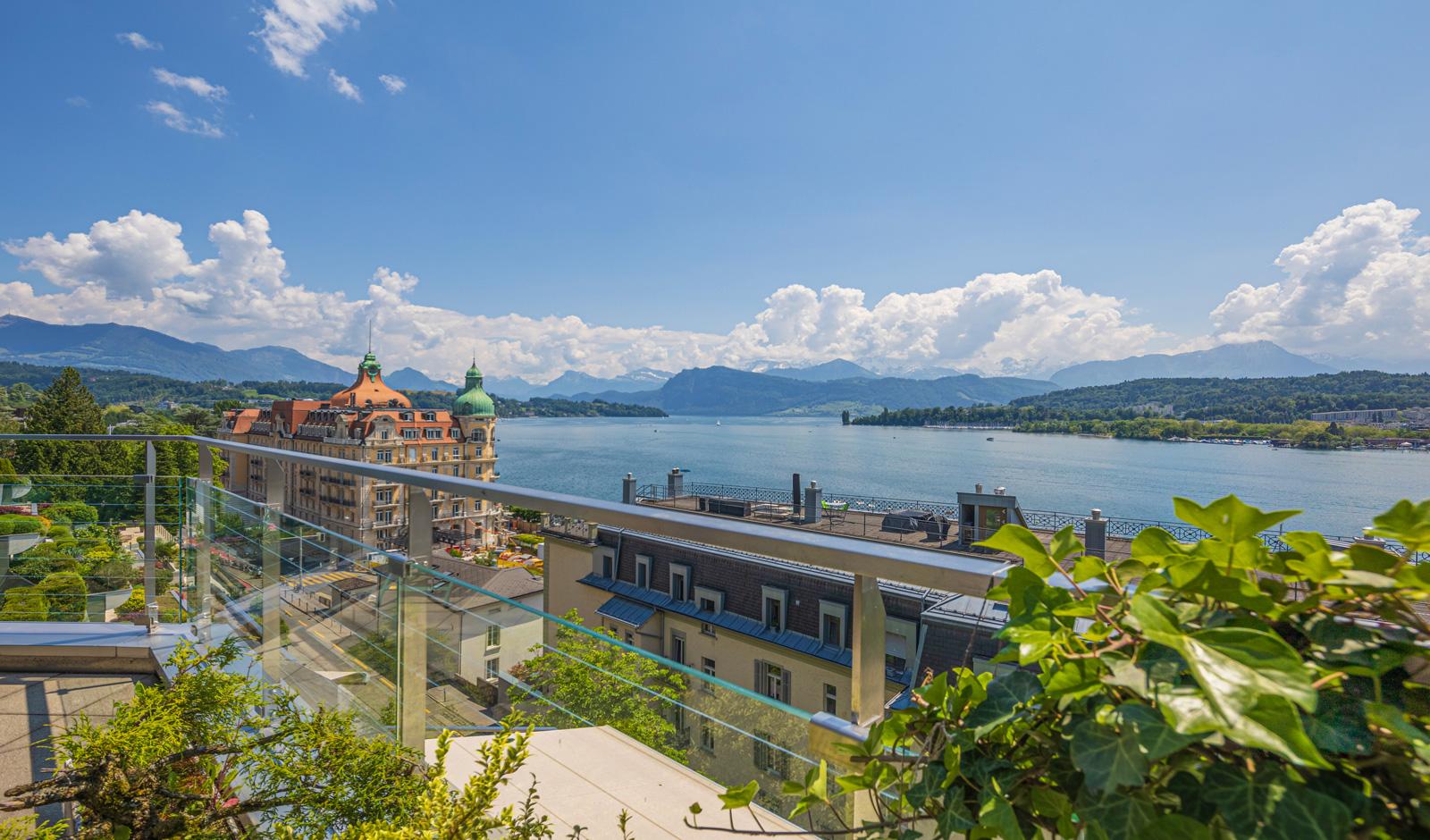 Erstklassige Lage in Luzern – geniessen Sie 180°-Panoramaaussicht